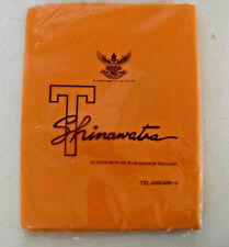 "Vtg NIP Thai Raw Silk Fabric Material 4.5 Yard MangoOrange T SHINAWATRA 80""x160"""