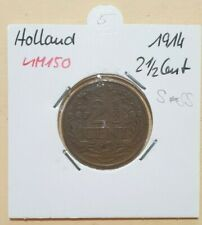 NIEDERLANDE > 2 1/2 Cent >  1914 > KM150> S-SS (A 353)