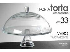 ALZATA PORTATORTA PORTA TORTA DOLCI IN VETRO CON COPERCHIO GICOS CM. 33