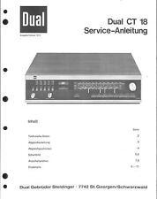 Dual service manual pour CT 18