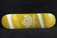 Organika Skateboard Deck 8.25 Yellow Team Skate Deck Free Grip