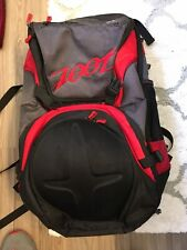 (Z) ZOOT Ultra 2.0 Triathlon Transition Backpack Black/Red