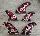 CLEARANCE Cardiff Fin Co 5 Fin Set Red Camouflage Med M5 + M1B RQ - Futures