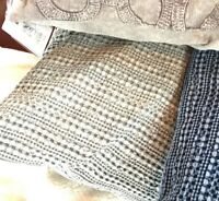 Pottery Barn Honeycomb Pillow Cover Driftwood 18 Throw Sofa Accent Neutral New