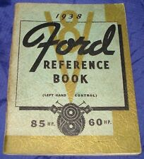RF1602 1938 Ford V8 85 & 60HP Reference Manual Left Hand Control