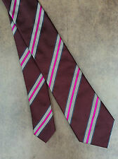 PAUL SMITH 100% SILK DIAGONAL STRIPE TIE MADE IN ITALY