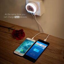 Sensor Dual USB Wall Charger LED Light Auto Induction Control Night Light Lamp