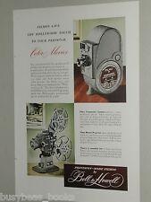 1948 Bell & Howell advertisement, FILMO Companion Camera, 8mm camera, projector