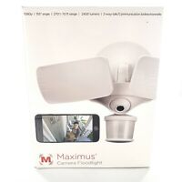Maximus Smart Motion Activated Security Camera Floodlight 1080p WIFI New Sealed
