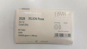 sealed package,1440 swarovski hot-fix xilion flatbacks,12ss cobalt #2028