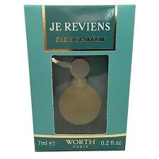 Je Reviens by Worth 7ml EDP Mini Miniature Perfume for Women