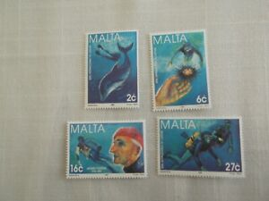 MALTA STAMPS 1998 - YEAR OF THE OCEANS - SET OF FOUR - MINT NEVER HINGED