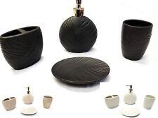 4 Piece Elegant Shell Ceramic Bathroom Accessory Set