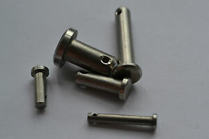 """Stainless Steel clevis pin 316 marine grade IMPERIAL 3/16"""" 1/4"""" 5/16"""" 3/8"""" 1/2"""""""