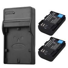 2x 2650mAh LP-E6 Batterie + Chargeur For Canon EOS 5DS R 5D Mark II Mark III 70D