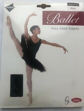 Ladies Full Foot Ballet Tights Black Medium By Silky Adult Dance Footed