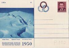 CSSR Tschechoslowakei Postkarte Nr. 109 ** Klement Gottwald Ski  Hohe Tatra -13