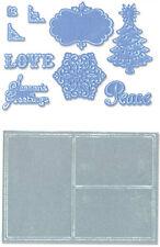 Sizzix Noel Framelits 9 matrices &2 Planche pour gaufrage Collage Lot de châssis
