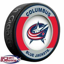 Columbus Blue Jackets Official Nhl Retro Team Logo Souvenir Hockey Puck