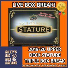 🔥🏒2019-20 UPPER DECK STATURE (x3) TRIPLE BOX BREAK #63 🔥🏒