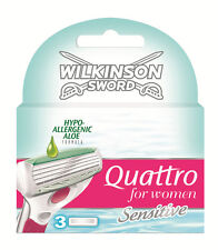 Genuine Wilkinson Sword Quattro for Women Razor Blades - X1 3 Pack Refil