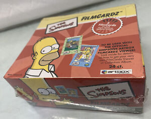 New Sealed The Simpsons FilmCardz Lot - 2003 Box Artbox