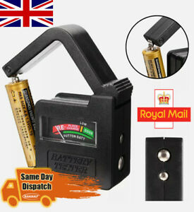 Portable Universal Battery checker tester for AA/AAA/C/D/9V/1.5V Button Cell UK