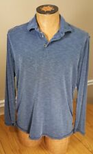 Tommy bahama long sleeve medium polyester blue and white maroon color