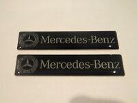 2X MERCEDES BENZ RESIN BADGE EMBLEM INTERIOR SIDE C CL CLK SLK S SL E CLASS NEW