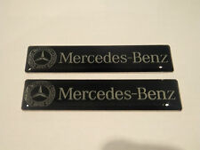 2X MERCEDES BENZ RESIN BADGE EMBLEM INTERIOR SIDE C CL CLK SLK S SL E CLASS NEW