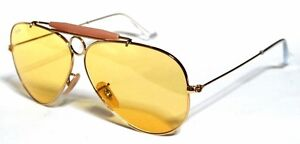 RAY BAN 3138 58 Shooter Gold Yellow Gelb Ambermatic Brauch Remix