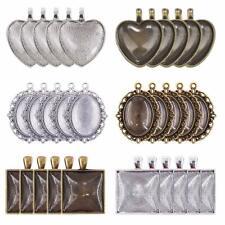 30 Sets Cabochon Setting Flatback Frames Blanks Glass Silver Bronze Assorted