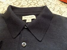 JOHN W NORDSTROM FINE WOOL NAVY POLO SWEATER SIZE XL