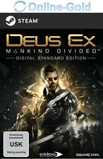 Deus Ex - Mankind Divided - PC Game Key - Steam Digital Download Code Neu DE/EU