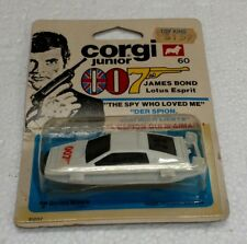 VINTAGE CORGI JUNIOR 007 JAMES BOND LOTUS ESPRIT NEW