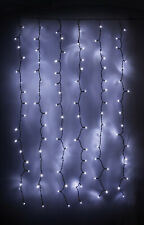 Connectable LED Outdoor Curtain Lights Cool White Christmas Xmas Lights Festive