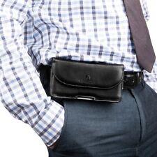 Black Belt Clip Leather Wallet Case Holster Case for Motorola Moto z3 e5 play g6