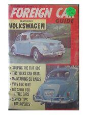 Foreign Car guide magazine VTG Sept 1962 VOLKSWAGEN FIAT hot rod drag race VW