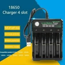 More details for 18650 usb battery charger rechargeable 4 slots for 4x 3.7v uk-plug batteries