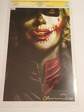 "BATMAN DAMNED #2 - LEE BERMEJO ART PRINT/SIGNED & NUMBERED #1/100 CGC (11""x17"")"