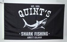 Quint's Shark Fishing flag Jaws Amity Island Movie Retro Beach 3X5FT Banner