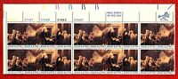 US Stamps SC#1691-1694 1694a 13c Declaration of Independence, plate strip 20