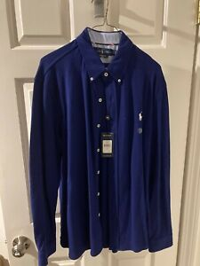 Polo Ralph Lauren Long Sleeve Blue Shirt - NEW WITH TAGS - Large Lg