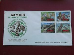 ZAMBIA First day cover  CONSERVATION YEAR 1972