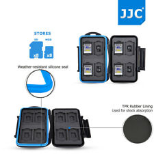 Water-Resistant Memory Card Case Storage Holder for 8 SD+8 Micro SD MSD TF Cards