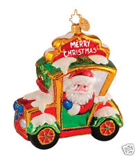 Radko 1014388 Christmas Cabbie - Santa In Cab - Retired Ornament