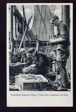 Denmark Fishing Men mending nets RP PPC