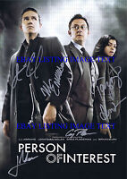 PERSON OF INTEREST CAST SIGNED 8x10 RP PHOTO JIM CAVIEZEL MICHAEL EMERSON HENSON