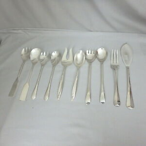 5 Vtg Silverplate Serving Sets for Salads, Buffet, Meat; Rogers, Sheffield...