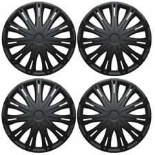 "FORD MONDEO WHEEL TRIM HUB CAPS CAP PLASTIC COVERS FULL SET BLACK 15"" INCH"